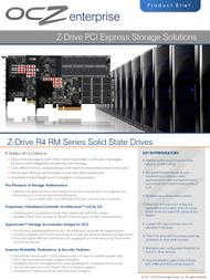 OCZ Storage Solutions Z-Drive R4 RM88 ZD4RM88-FH-800G User Manual