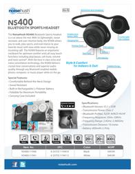 NoiseHush NS400 NS400-11940 Leaflet