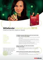 SOFTWIN BitDefender Internet Security 2010, 1 User Single Edition Retail NB11031001-DE Leaflet