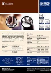 Noctua NH-U12P SE1366 Leaflet