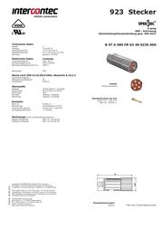 Intercontec BSTA085FR03480235C00 24 A BSTA085FR03480235C00 Data Sheet