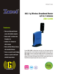 Zonet ZSR1124WE Leaflet