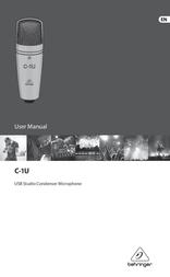 Behringer C-1U User Manual