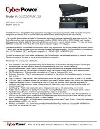 CyberPower OL2000RMXL2U Leaflet