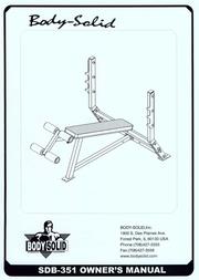 Body Solid SDB-351 User Manual