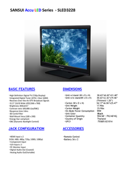 Sansui SLED3228 Leaflet