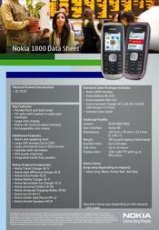 Lebara 1800 데이터 시트