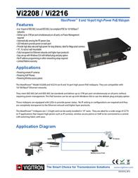 Vigitron VI2208 Leaflet