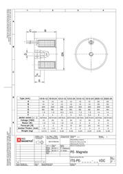 Intertec ITS-PE-1212-24VDC, electromagnet, ITS-PE-1212-24VDC Data Sheet
