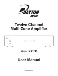 Dayton Audio MA1240 User Manual
