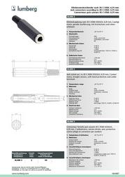 Lumberg KLKM 33 Data Sheet
