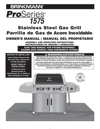 Brinkmann Gas Grill 1575 User Manual