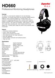 Superlux HD660NB Leaflet