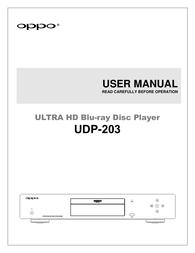 Oppo UDP-203 Owner's Manual