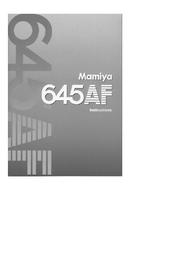 Mamiya 211125 User Manual