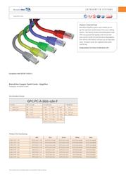 Brand-Rex 1.0m RJ45 Cat5e F/UTP GPCPCF010-888H Leaflet