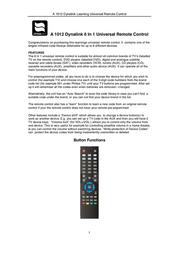 Dynalink A 1012 User Manual