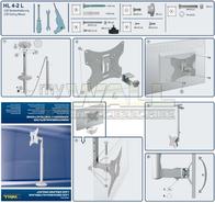 myWall HL 4-2 L HL 4-2 L Ceiling mount Wall bracket for LCD, LED and Plasma TVs 25 - 76 cm Steel HL 4-2 L Data Sheet