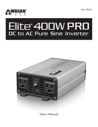 WAGAN DC to AC Pure Sine Inverter 2601 User Manual