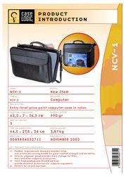 "Case Logic Basic Laptop Case 15.4"" NCV1 Leaflet"