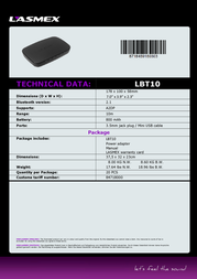Lasmex LBT-10 Data Sheet