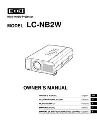 EIKI LC-NB2W User Manual
