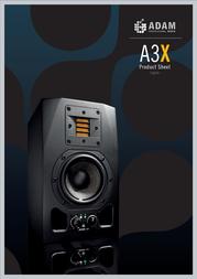 Adam Audio A3X Leaflet