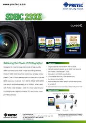Pretec SDHC 233X (Class 10) PC10SDHC16G Leaflet