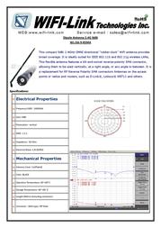 WiFi-Link 2.4GHz Dipole 9 dBi Antenna (RP SMA male) WL-DA-9-RSMA Leaflet