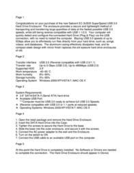 Sabrent EC-3US35 Leaflet