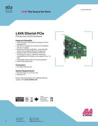 Lava DSerial-PCIe DSERIAL-PCIE Leaflet