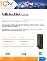 10ZiG Technology 5848v 5848V-1107 Prospecto