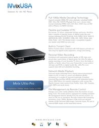 Mvix Personal Video Recording (PVR), HD Media Player, Mvix Ultio Pro MX-880HD Leaflet