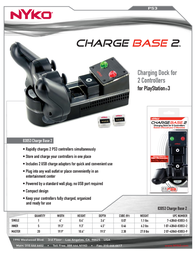 Nyko Charge Base 2 83053 Leaflet