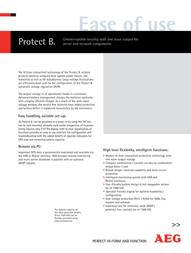 AEG PROTECT B. 750 6000003916 Leaflet