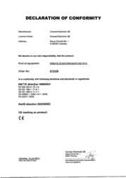 Eurochron Eas 301z X45128 Data Sheet