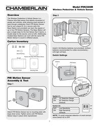 Chamberlain PIR2300R User Manual