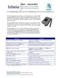 EnGenius EOC-8610S EXT Ultra Long Range Outdoor Access Point 710201GEOC8610S Leaflet