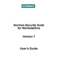 Norman Security Suite FR NSS_FR User Manual