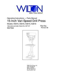 Wilton A3818 User Manual