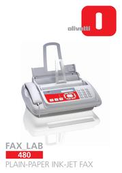 Olivetti Fax_Lab 480 DECB9040204 User Manual