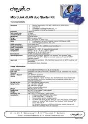 Devolo MicroLink dLAN duo Starter Kit 1141 プリント