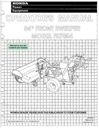 Honda FS7054 User Manual