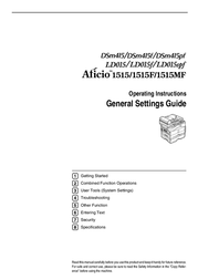 Dixon Aficio 1515 User Manual