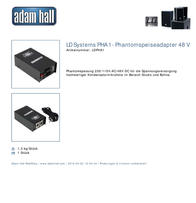 LD Systems LD PHA1 PHANTOMSPEISE ADAPTER 48 V LDPHA1 Information Guide