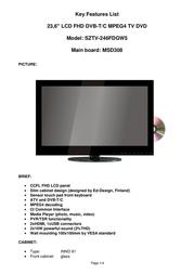 Saga SZTV-246FDGW5 User Manual