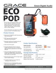 Grace Digital Audio Eco Pod GDI-AQPOD90 Leaflet