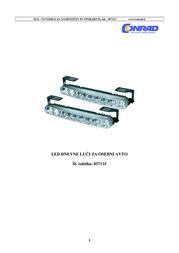 Dino LED Daytime Running Lights 36 LEDs 610791 Scheda Tecnica