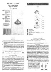 Viessmann 5022K H0 H0 Bonfire, kit 5022K Data Sheet
