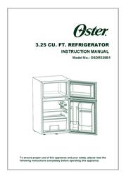 Oster 3.25 CU. FT. Refrigerator User Manual